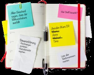 Kursorganisation - auf Papier