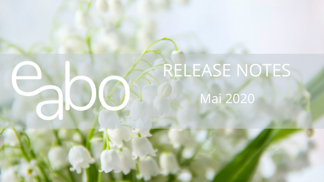Release Notes Mai 2020